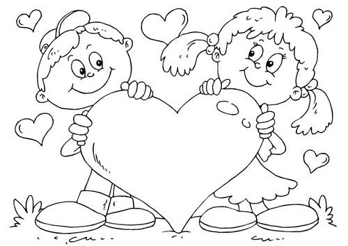 Coloriage de la saint valentin - St valentin dessin ...