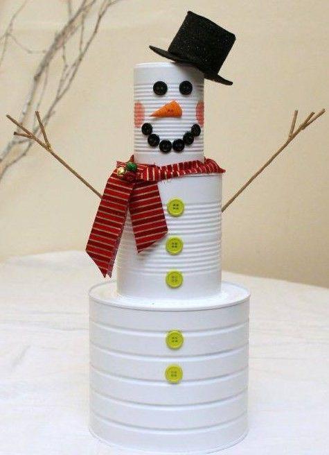 bonhomme de neige en boite de conserve. Black Bedroom Furniture Sets. Home Design Ideas