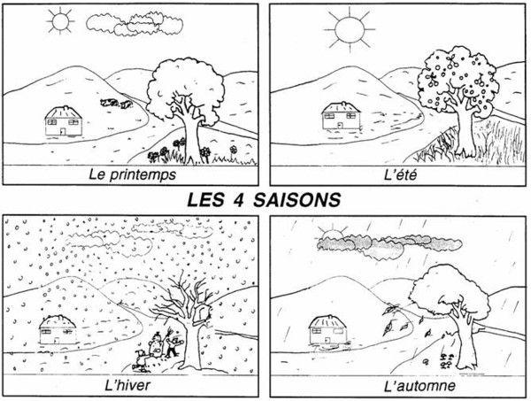 Coloriage des 4 saisons - Coloriage saisons a imprimer ...